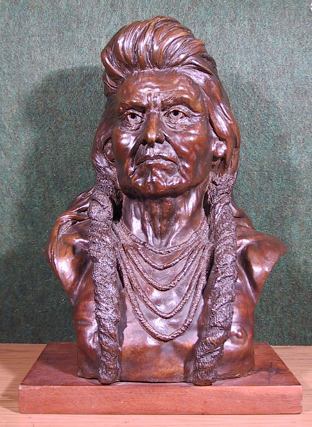 Goldstein, Chief Joseph Bronze Indian Sculpture