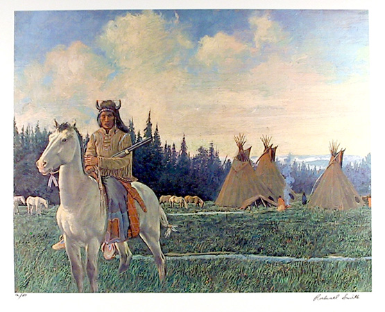 Rockwell Smith S/N Western Print, Chief Looking