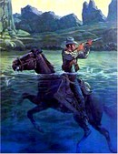 Cecil Smith S/N Western Print, Bullets for Bull