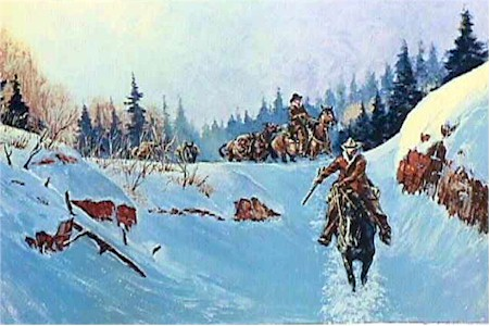 Noel Daggett S/N Western Print, High Country