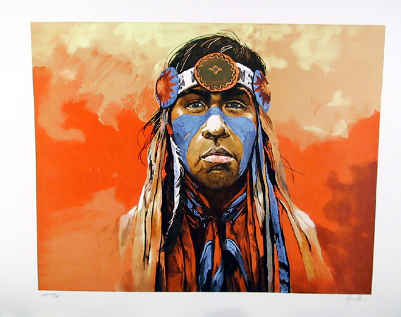 Jorge Tarallo S/N Lithograph American Indian