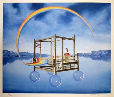 Tito Salomoni, S/N Lithograph Print,  Rainbow Fantasy