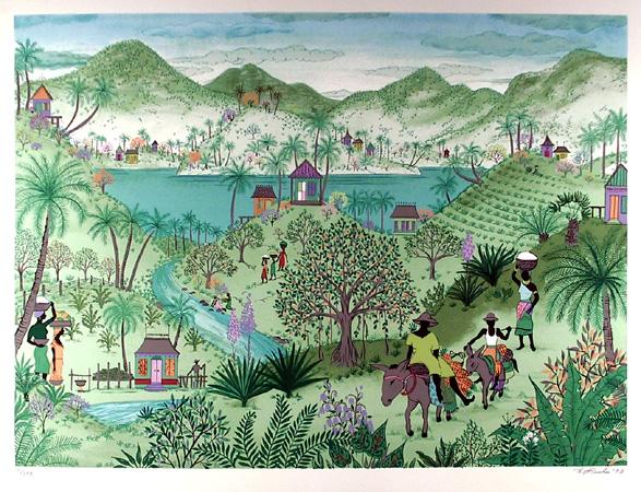 Jack Hofflander, S/N Print, Folk Art, Donkey