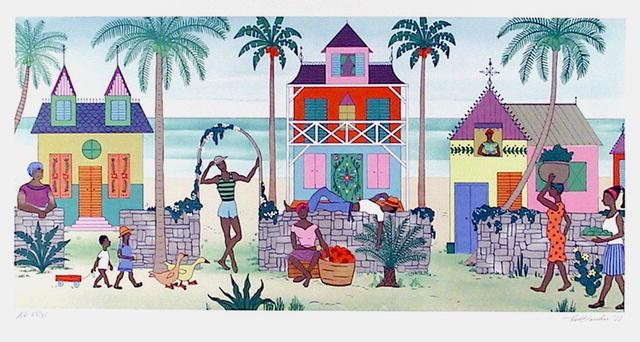 Jack Hofflander, S/N Print, Folk Art, Haitian