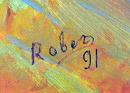 Rober, Framed Oil on Canvas Painting, Landscape