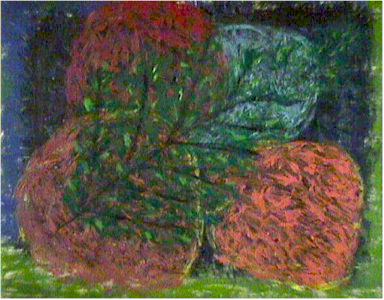 Rose, Outsider Oil Painting, 1962