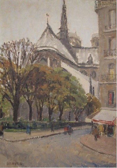 Graves, Oil on Canvas Painting, Notre Dame