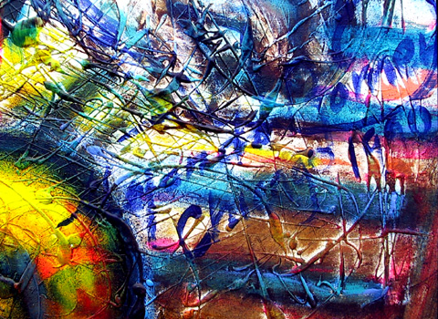 Alejandro Romero Large Oil Painting, Wind