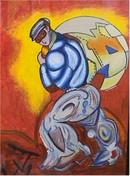 Sandro Chia S/N Etching, The Thief