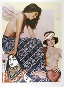Robert Anderson S/N Lithograph, Queen of hearts