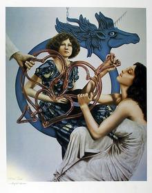 Robert Anderson S/N Lithograph, Blue Pegasus