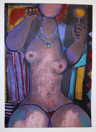 Remo Farruggio S/N Lithograph, Nude