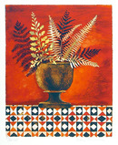 Mary Faulconer S/N Lithograph, Red Ferns