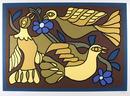 Victor Delfin S/N Serigraph Print, Three Doves
