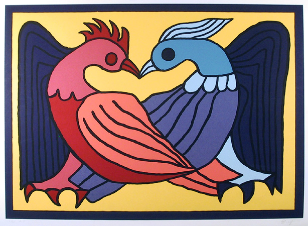 Victor Delfin S/N Serigraph Print, Two Kissing