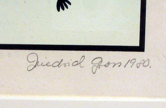 Friedrich Gross S/N Framed Serigraph, The Cat