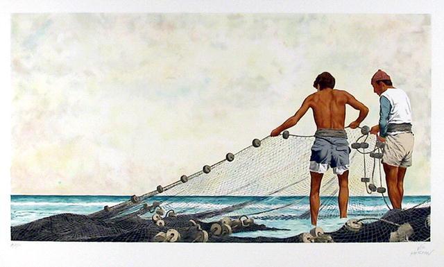 Vic Herman S/N Lithograph, Fishing,