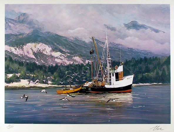 Uwe Werner S/N Print, Sailing, A Short Break