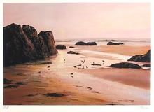 Uwe Werner S/N Serigraph, Beach Sunset