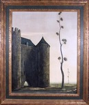 Alvaro Guillot Oil Painting 1963, French Castle