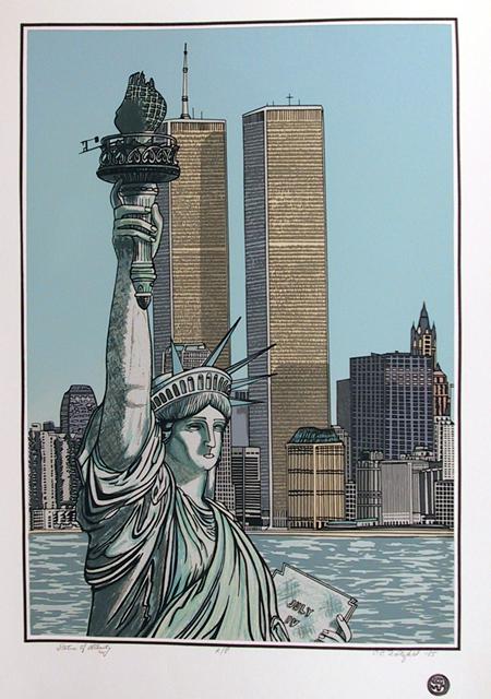 Cindy Wolsfeld Statue of Liberty, Serigraph