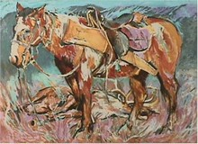 Everett Hibbard S/N Print, Hunter Horse