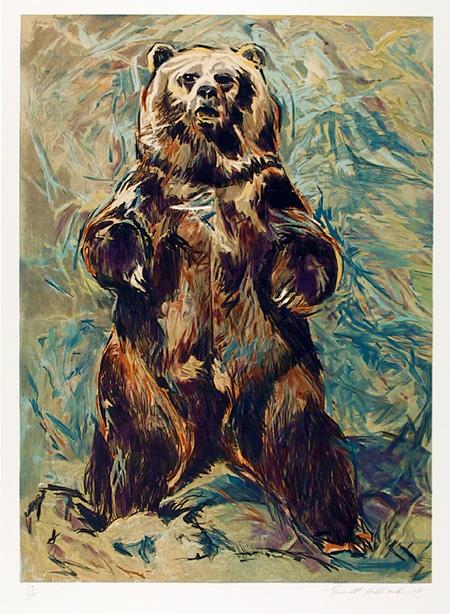 Everett Hibbard S/N Wildlife Print, Standing