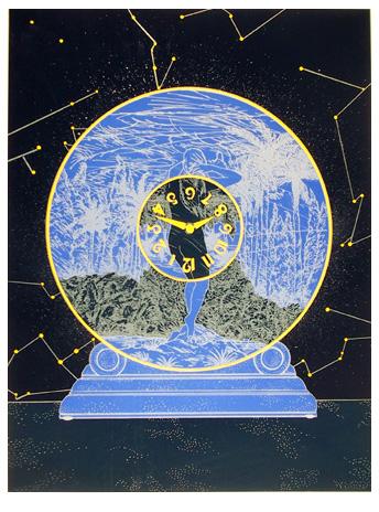 Susan Hall S/N Lithograph, Interstellar Space