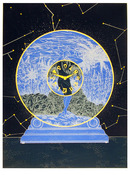 Susan Hall S/N Lithograph, Interstellar Space
