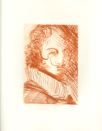 Salvador Dali Etching, Self-Portrait