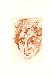 Salvador Dali Etching, Marc Chagall Portrait