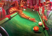 Justin Bua Fine Art Poster, Behind the eight ball