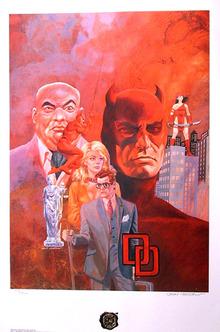 Daredevil Limited Edition Print, 1987