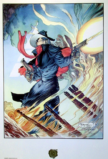 The Shadow Signed Print, Comic Art Kaluta