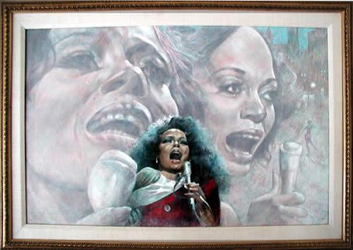 Raymond Howell Framed Painting, Diana Ross