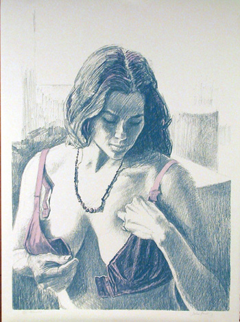 John Hardy S/N Lithograph, Brassiere Nude