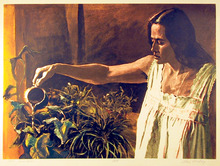 John Hardy S/N Lithgraph Print, Window garden
