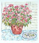 B. Hyman S/N Floral Print, Flower Pot