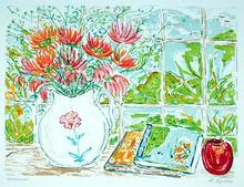 B. Hyman S/N Floral Print, Still Life with