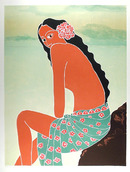 Gina Lombardi S/N Lithograph, Island Girl