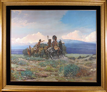 Noel Dagget, Large Oil Painting, Western Indian Art