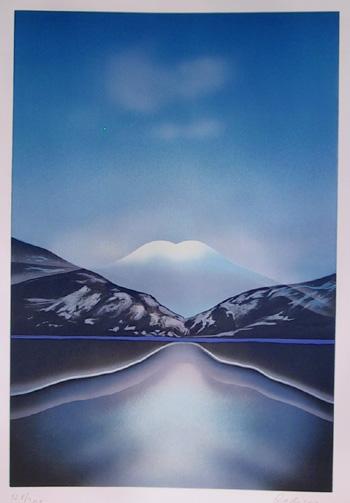 Irene Dedicova, Mountain Landscape Lithograph