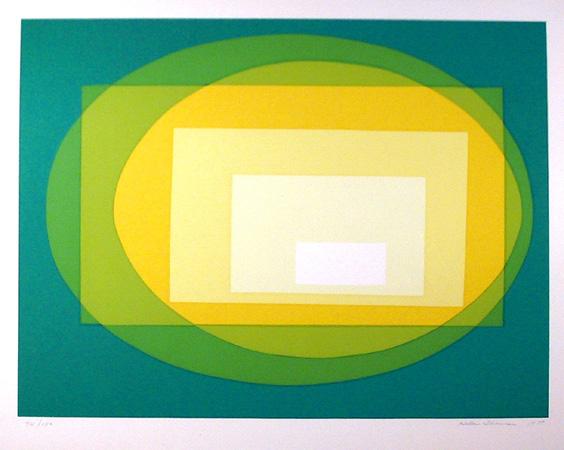 Hellen Thomas S/N OP Art Serigraph