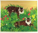 Russ Elliott  Signed Wildlife Serigraph, Tigers