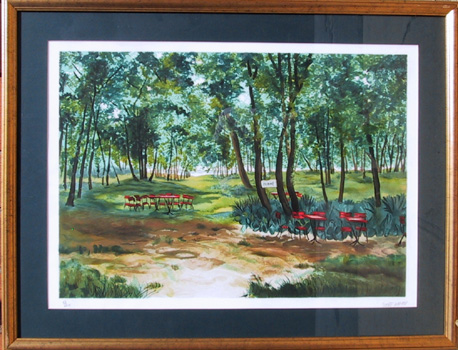 Michel Saint Albans Framed Landscape Print
