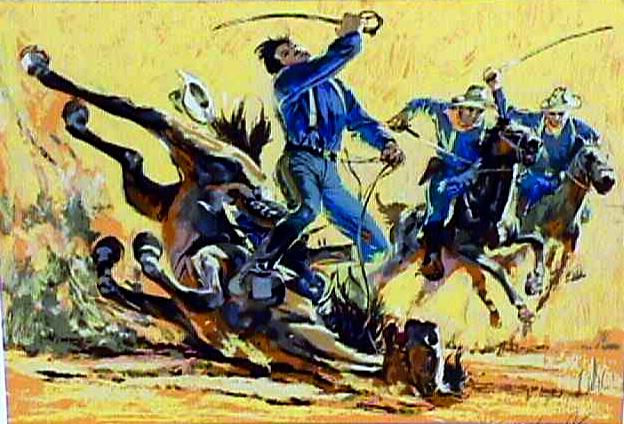 Harry Schaare S/N Lithograph, Western Art