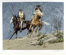 Harry Schaare S/N Lithograph, Western Art,
