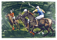 Harry Schaare S/N Lithograph, Polo Players