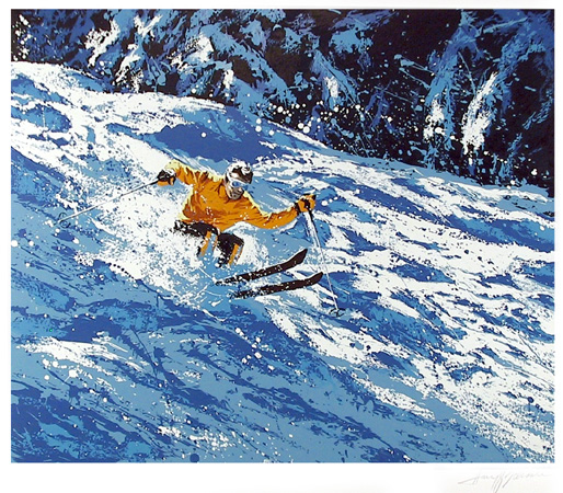 Harry Schaare S/N Lithograph,  Skiier