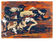 Harry Schaare S/N Serigraph,  Track Runners